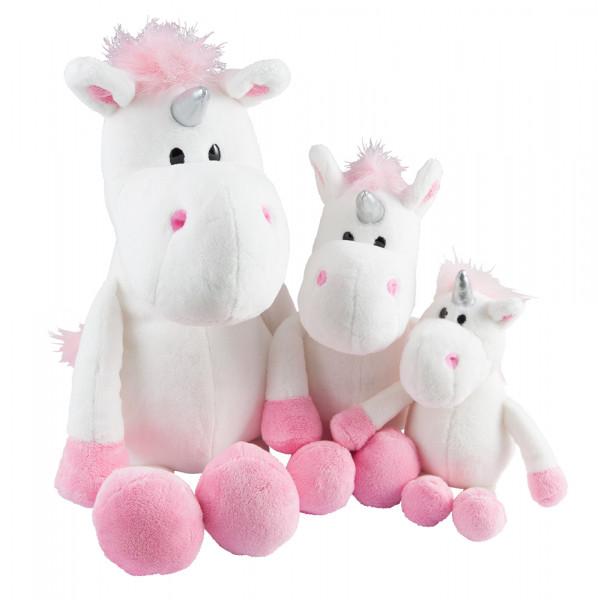 """Plyšový jednorožec """"Unicorn"""" 13 - 25 cm biela"""