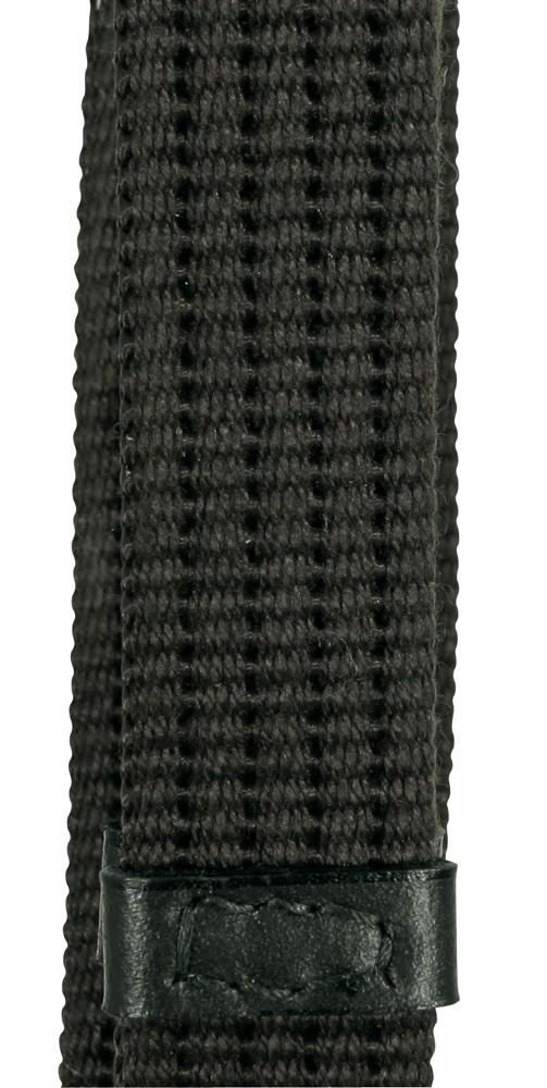 Oťaže s koženými zarážkami - čierne