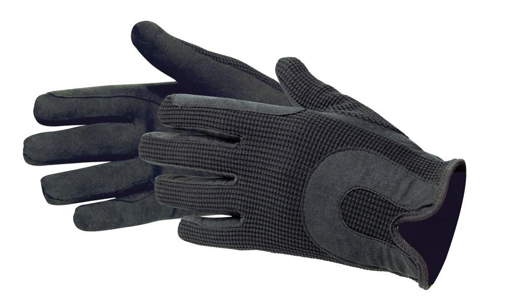 Jazdecké rukavice zo syntetickej kože