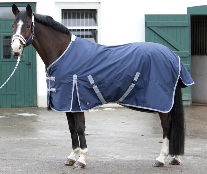 Štýlová deka do dažďa s podšívkou - modrá