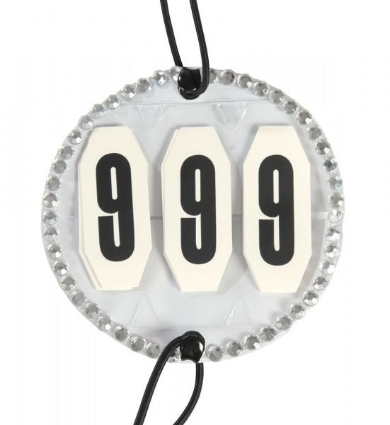 Štartovacie číslo lemované kamienkami