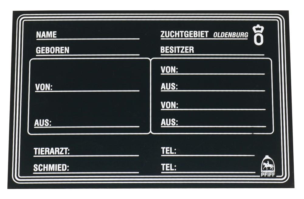 Popisovacia stajňová tabuľka Oldenburg