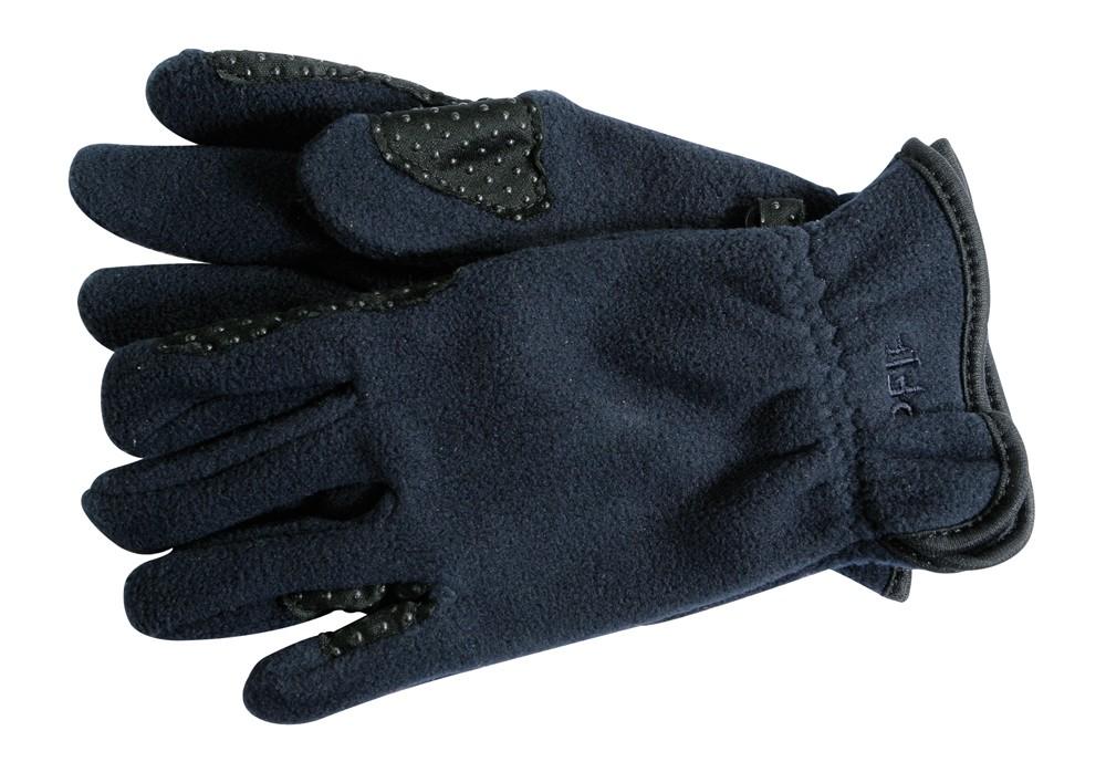 Flaušové jazdecké rukavice -modré