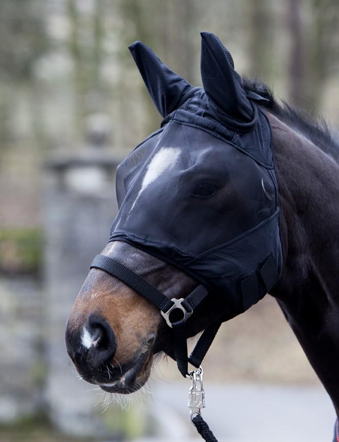 Elastická maska proti hmyzu - čierna