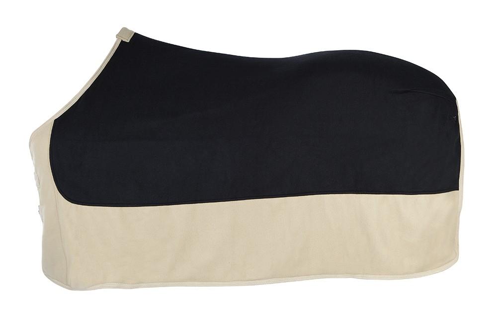 Odpocovacia deka dvojfarebná čierno-béžová
