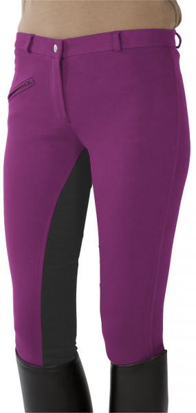 Jazdecké nohavice s celokoženým sedom - ružové/sivé