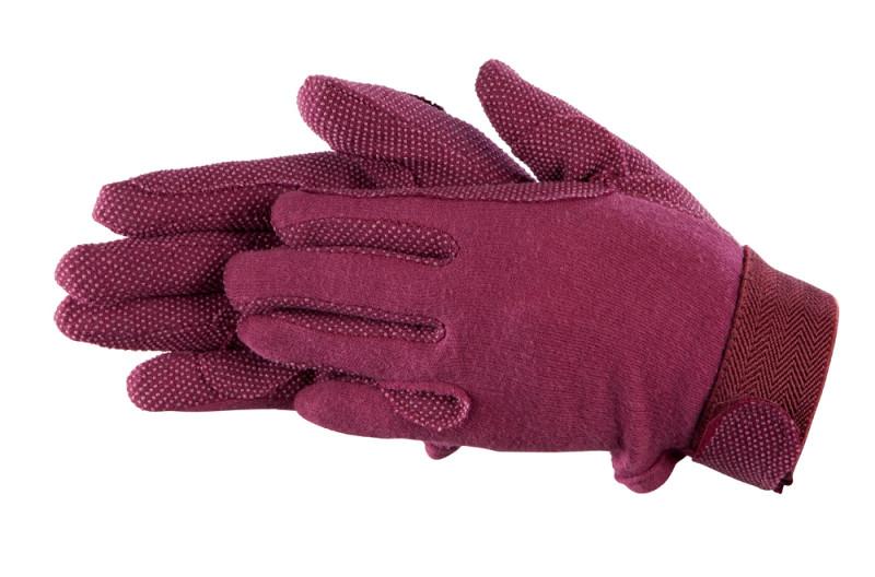 Bavlnené rukavice- Vínové
