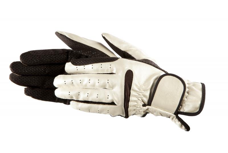 Exkluzívne jazdecké rukavice béžovo-hnedé