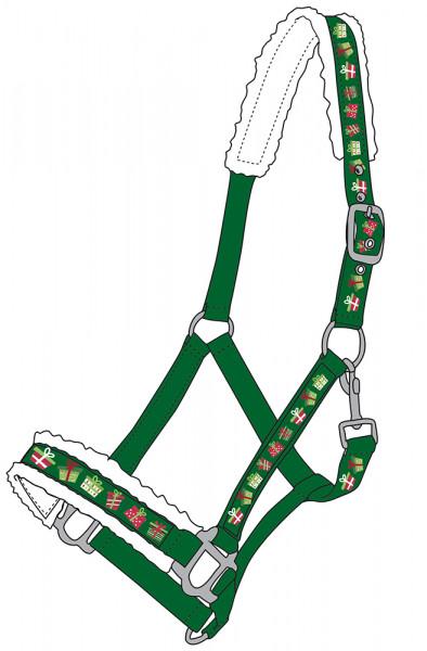 Vianočná ohlávka - zelená