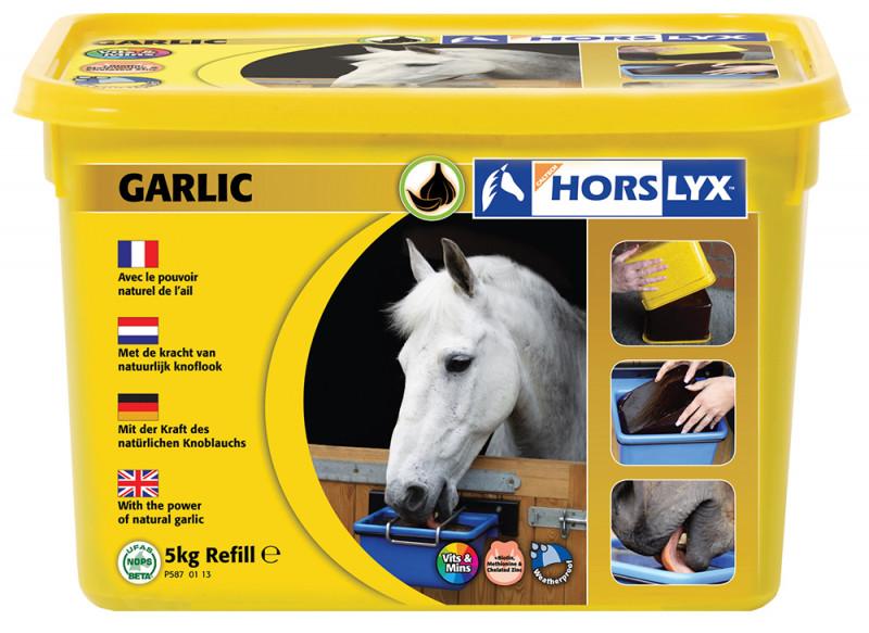HORSLYX, pochúťka pre kone vo forme lizu - Cesnak