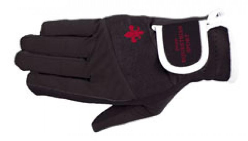 Jazdecké rukavice s logom - čierne
