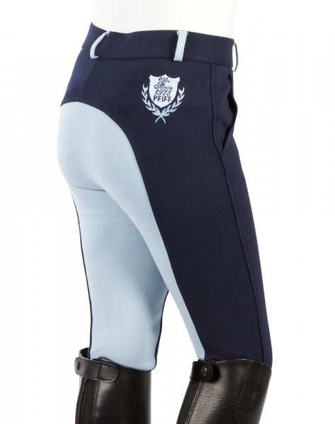 "Detské jazdecké nohavice  ""Elisa"" modrá- svetlomodrá"