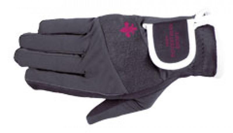 Jazdecké rukavice s logom - sivé