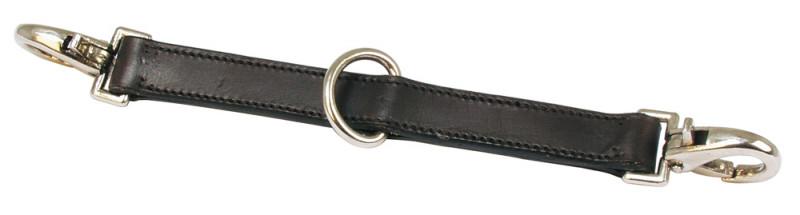 Lonžovacia spojka, kožená -  čierna