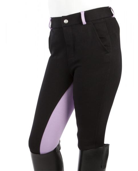 "Detské jazdecké nohavice  ""Elisa"" čierna- fialová"