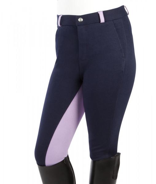 """Detské jazdecké nohavice  """"Elisa"""" modro- purpurová"""