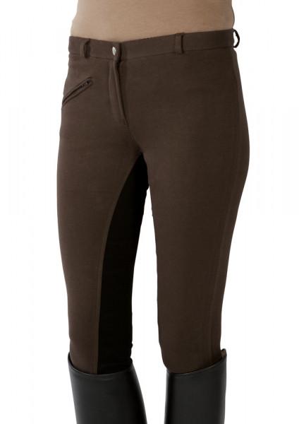 Jazdecké nohavice s celokoženým sedom - hnedé/čierne