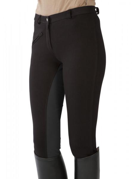 Jazdecké nohavice s celokoženým sedom - čierne