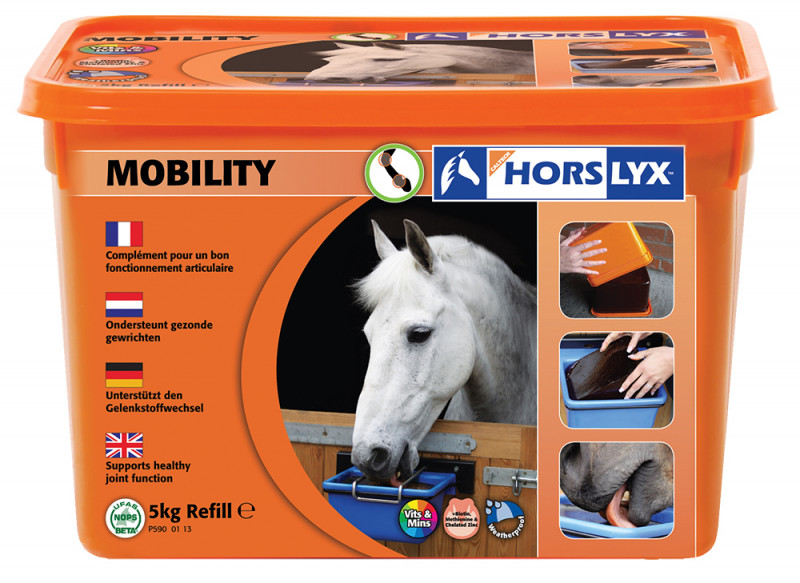 HORSLYX, pochúťka pre kone vo forme lizu - Mobility