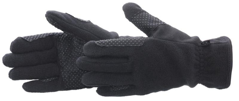 Flaušové jazdecké rukavice -čierne