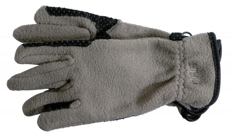 Flaušové jazdecké rukavice -sivé