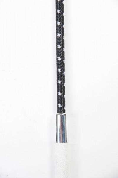 Drezúrny bičík s protišmykovou rukoväťou - čierny/biely