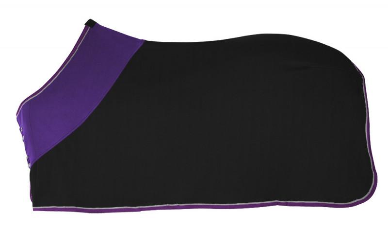 Odpocovacia deka čierno-fialová