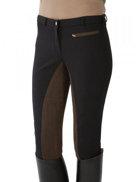 Softshellové jazdecké nohavice s celokoženým sedom