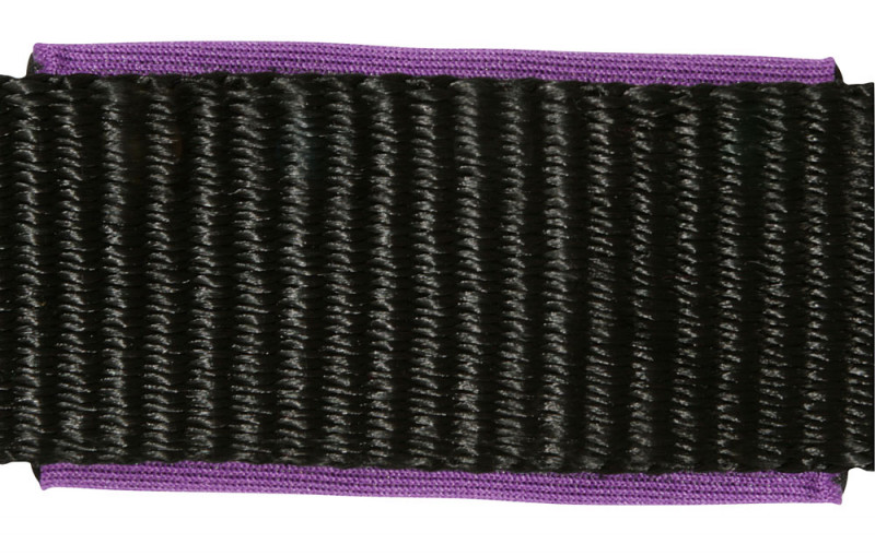 Ohlávka s nastaviteľným nátylníkom  čierno-fialová