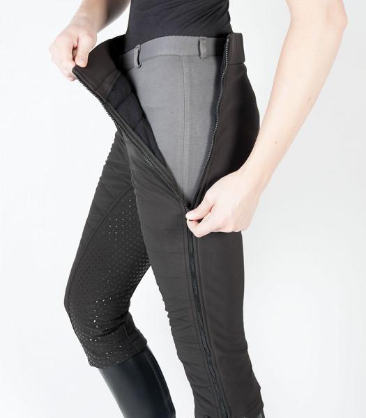 Zimné softshell návleky na rajtky - čierne