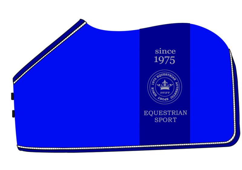 """Odpocovacia deka s logom """"Eike"""" - modrá"""
