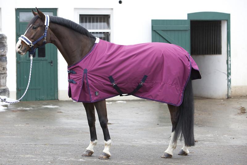 Štýlová deka do dažďa s podšívkou - bordová