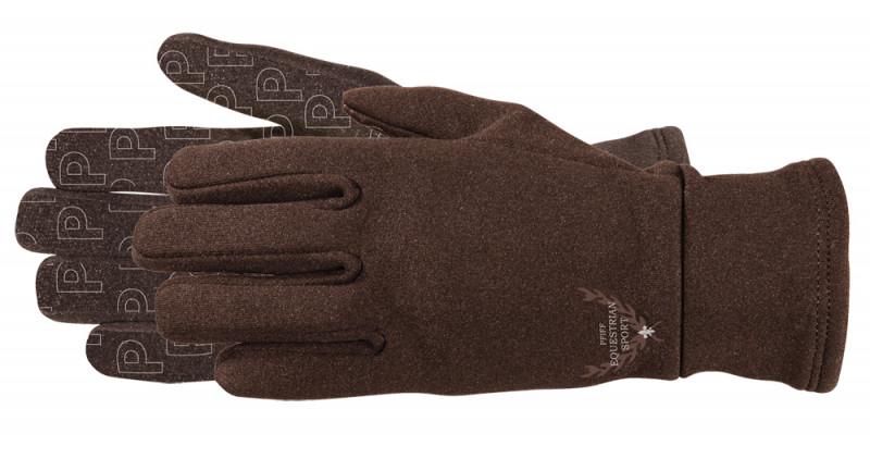 Zimné jazdecké rukavice - hnedé