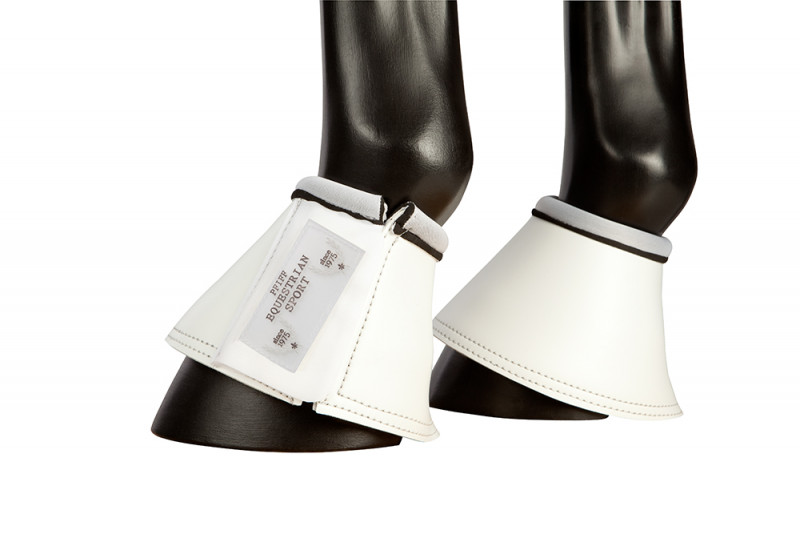 Zvony s čalúnením zo syntetickej kože - biele