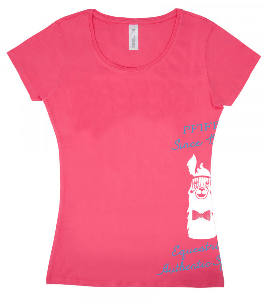 "Dámske tričko ""Lama"" - ružové"