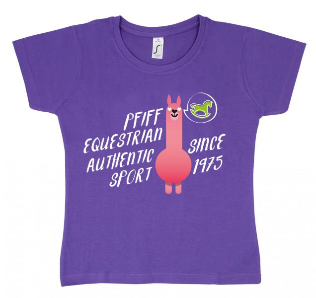 """Detské tričko """"Lama-Love"""" - fialové"""