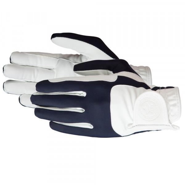 "Jazdecké rukavice ""Mellow"" bielo-modré"