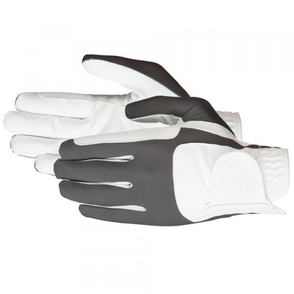"""Jazdecké rukavice """"Mellow"""" bielo-sivé"""