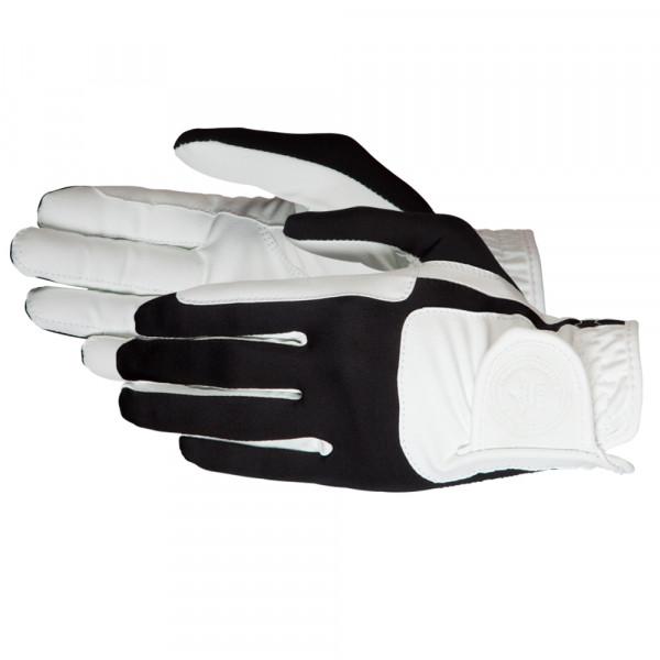"Jazdecké rukavice ""Mellow"" bielo-čierne"