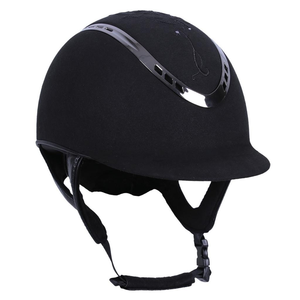 Jazdecká prilba QHP BOTANIC - čierna