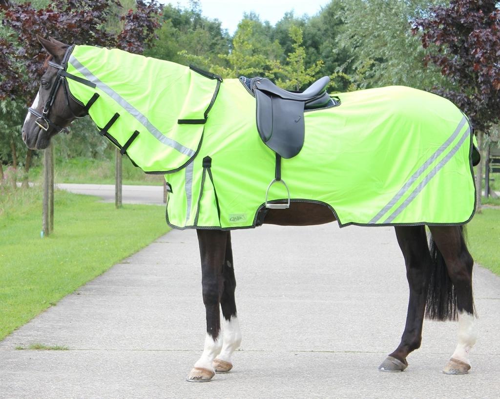 Reflexná jazdecká sieťová deka