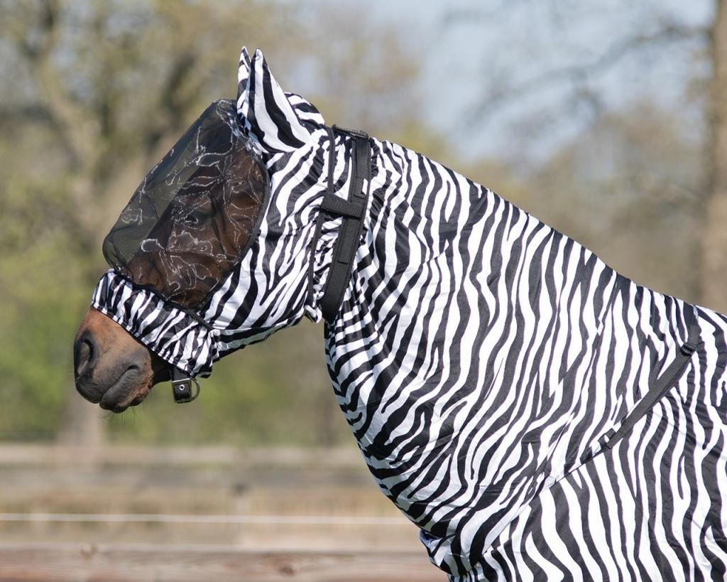 Maska pre koňa s ekzémom - zebra