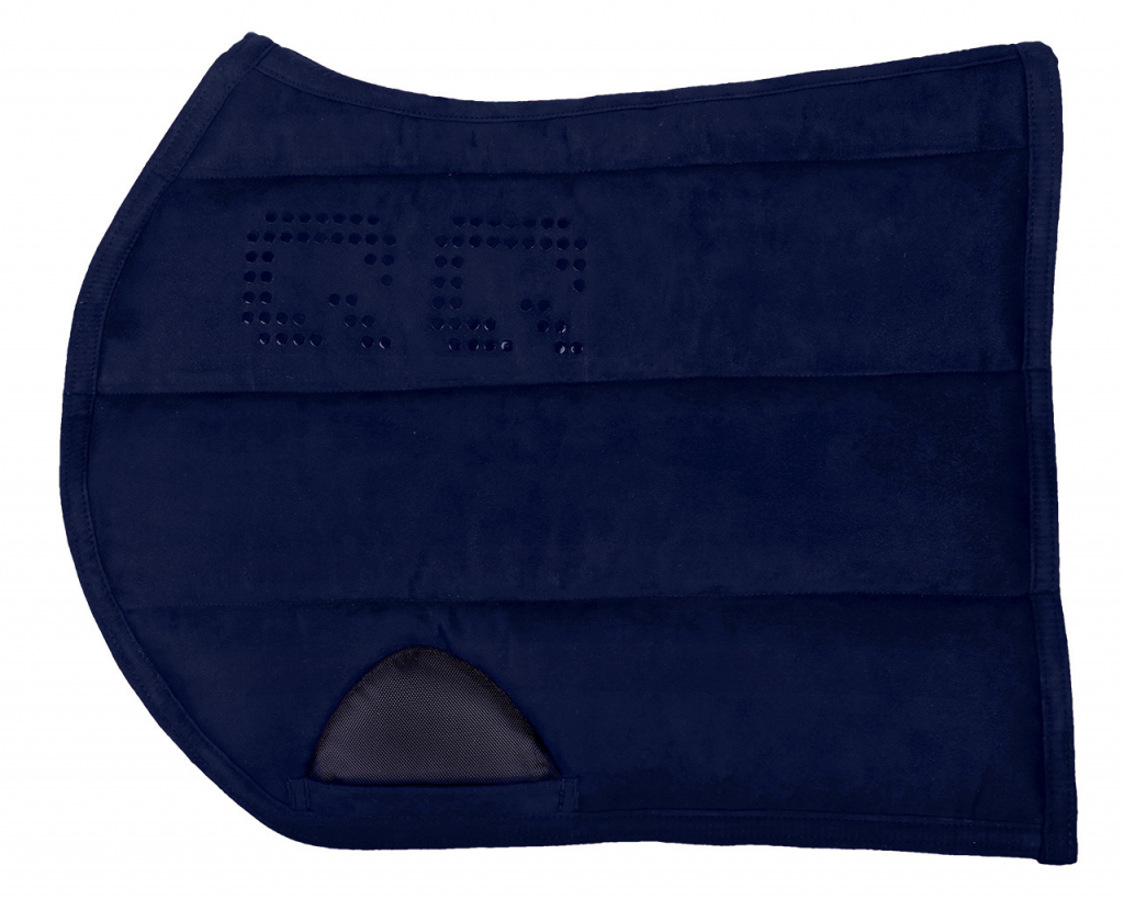 Podložka pod sedlo s gripom - modrá