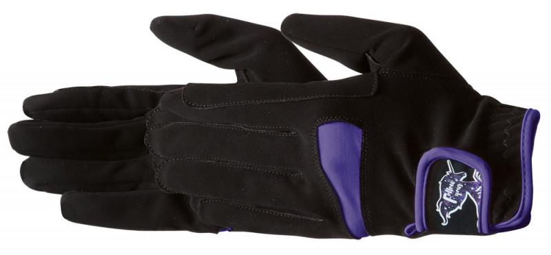 Jazdecké rukavice pre deti - fialové